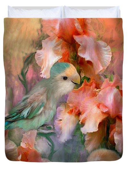 Love Among The Irises Duvet Cover