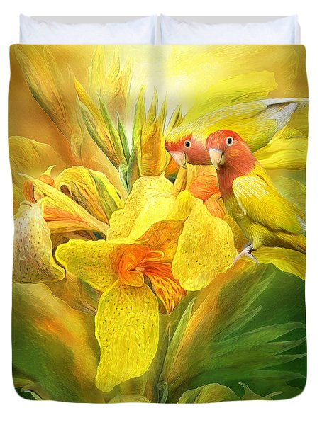 Love Among The Orchids Duvet Cover