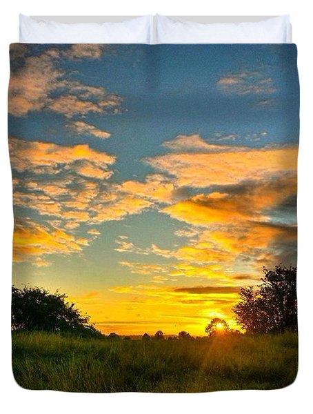 Love An Autumn Sunset :) Duvet Cover