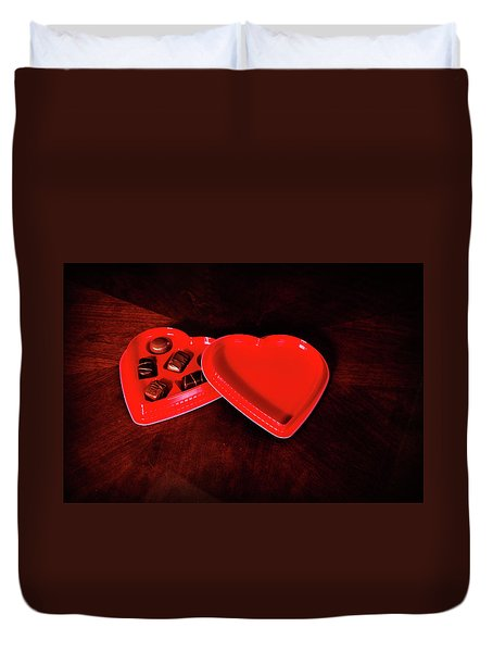 Love And Chocolate Duvet Cover