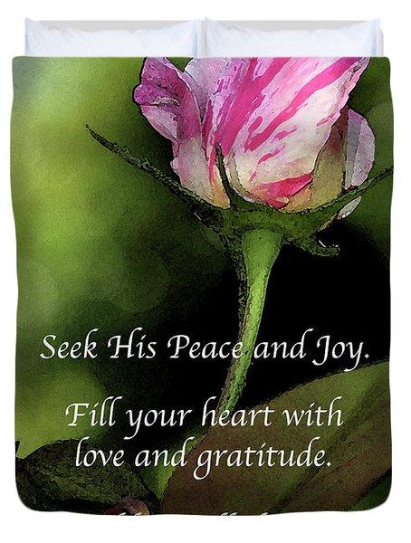 Love And Gratitude Duvet Cover
