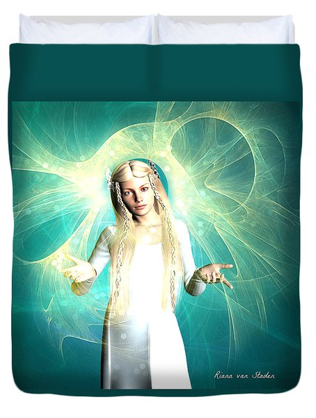 Duvet Cover featuring the digital art Love And Light by Riana Van Staden