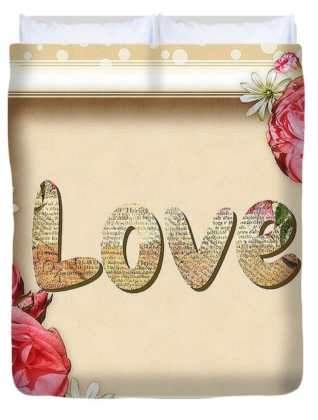 Love And Roses Duvet Cover