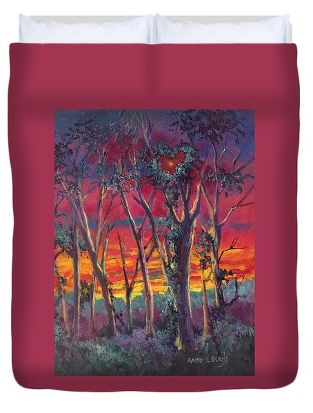 Love And The Evening Star Duvet Cover by Randy Burns