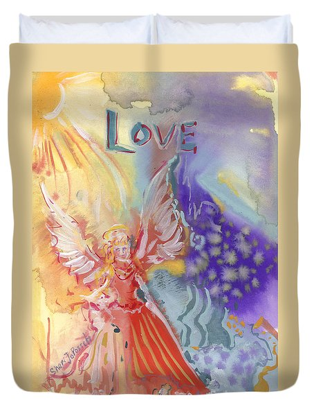 Love Angel Duvet Cover