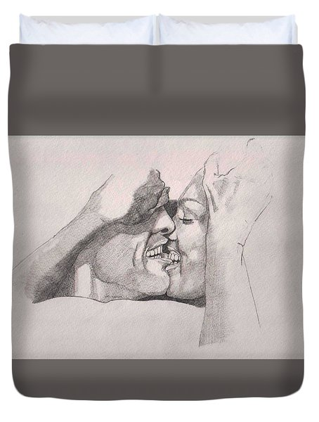 Love At First Bite Duvet Cover by Ray Agius