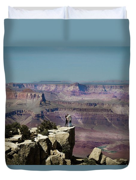 Love At The Grand Canyon Duvet Cover