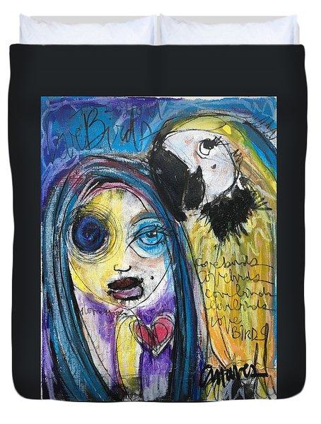 Love Birds Duvet Cover by Laurie Maves ART