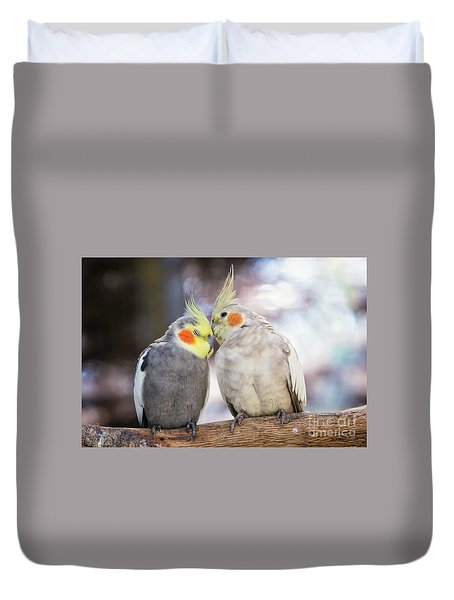 Love Birds Duvet Cover by Stephanie Hayes