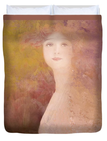 Duvet Cover featuring the digital art Love Calls by Jeff Burgess
