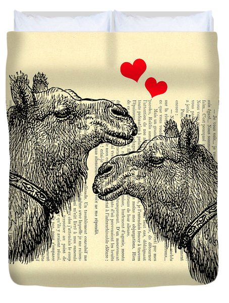 Love Camels Duvet Cover