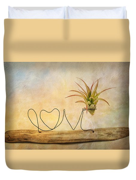 Love Duvet Cover by Catherine Lau