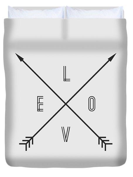 Love Compass Duvet Cover by Taylan Apukovska