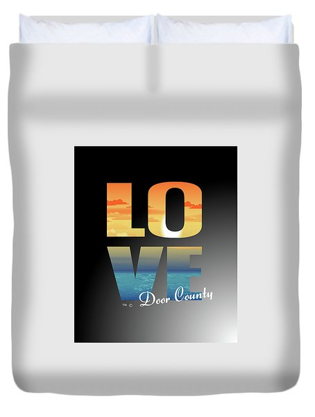Love Door County Duvet Cover