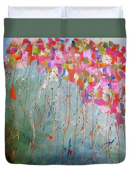 Love Flower Mountain Duvet Cover