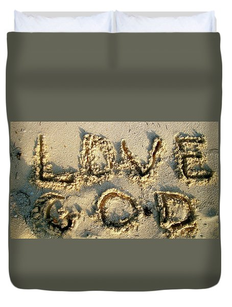 Love God Duvet Cover