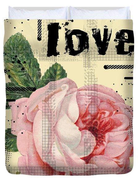 Love Grunge Rose Duvet Cover