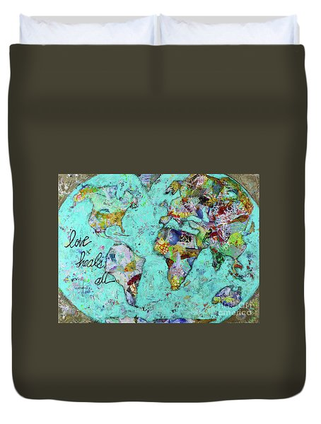 Love Heals All Duvet Cover by Kirsten Reed