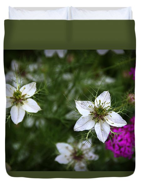Love-in-a-mist Duvet Cover