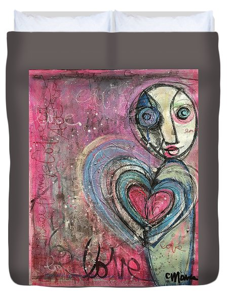Love In All Things Duvet Cover by Laurie Maves ART