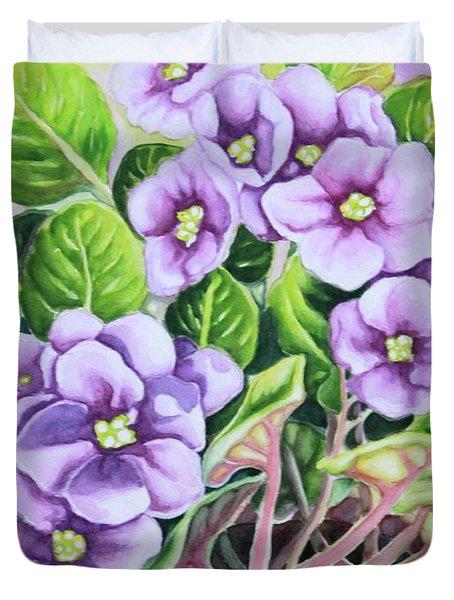 Love In Purple 1 Duvet Cover