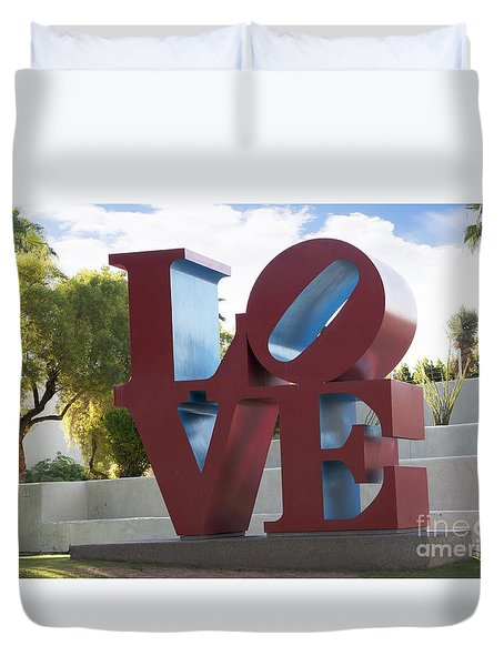 Love In The Park Duvet Cover
