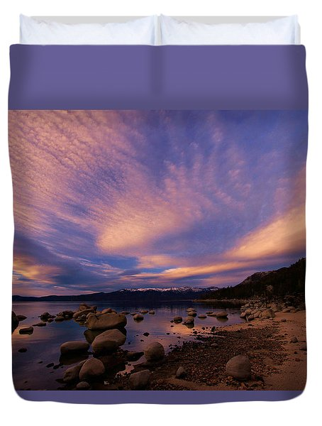 Love Is A Rocky Road Duvet Cover by Sean Sarsfield