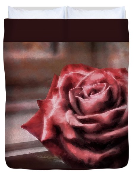 Love Is A Rose Duvet Cover