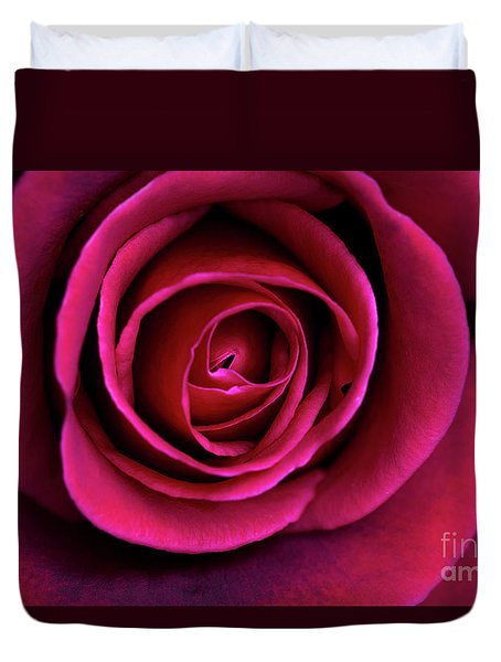 Duvet Cover featuring the photograph Love Is A Rose by Linda Lees