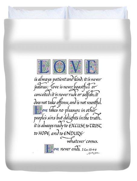 Love Is Always Patient Duvet Cover