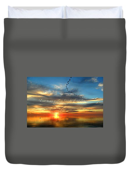 Love Is Endless Wonder Duvet Cover