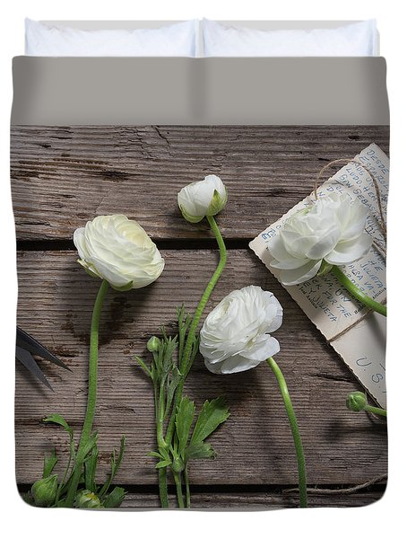 Duvet Cover featuring the photograph Love Is Everlasting by Kim Hojnacki