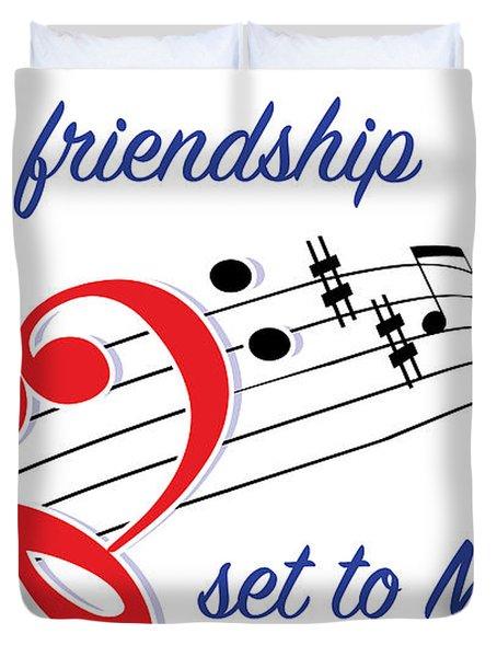 Love Is Friendship Duvet Cover