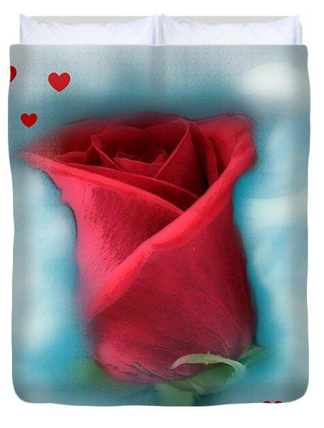 Love Is In The Air Duvet Cover by Linda Sannuti
