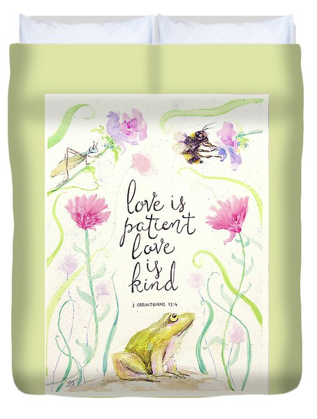 Love Is Patient Duvet Cover