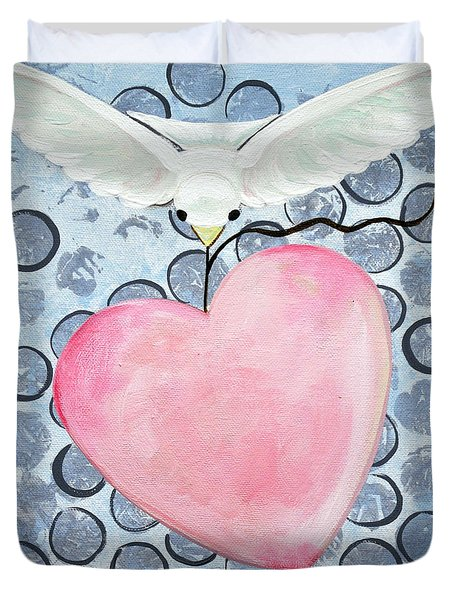 The Blessing Of The Dove Duvet Cover