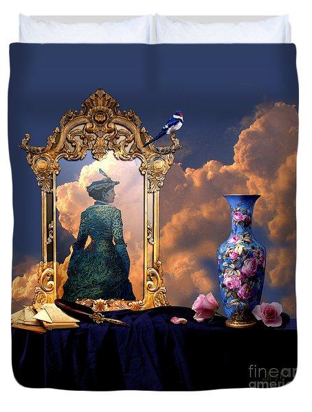 Duvet Cover featuring the digital art Love Letters by Alexa Szlavics