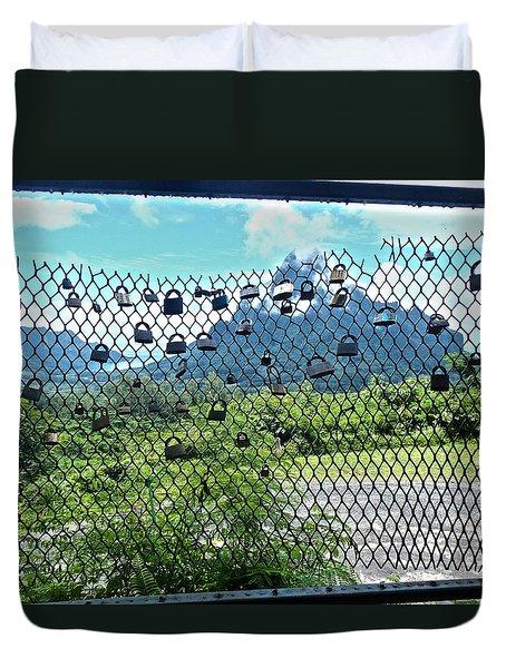 Love Locks In Moorea Duvet Cover
