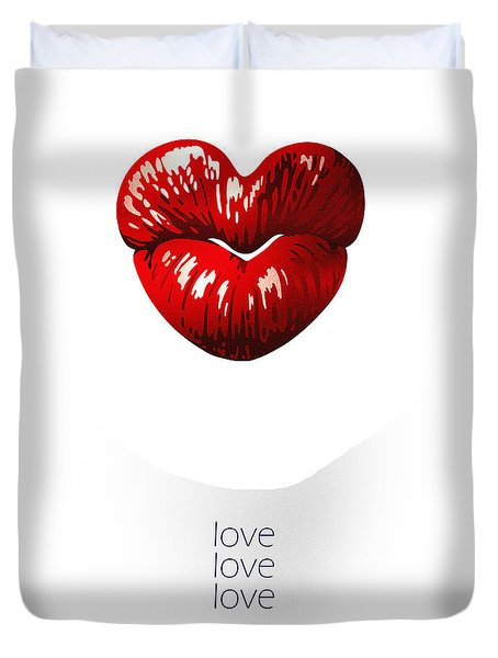 Love Poster Duvet Cover