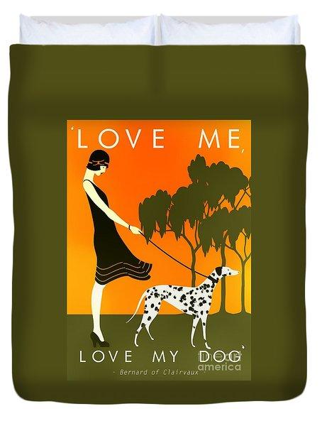 Love Me Love My Dog - 1920s Art Deco Poster Duvet Cover