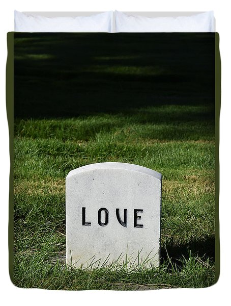 Love Monument Duvet Cover