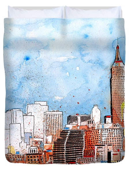 Love Nyc Duvet Cover