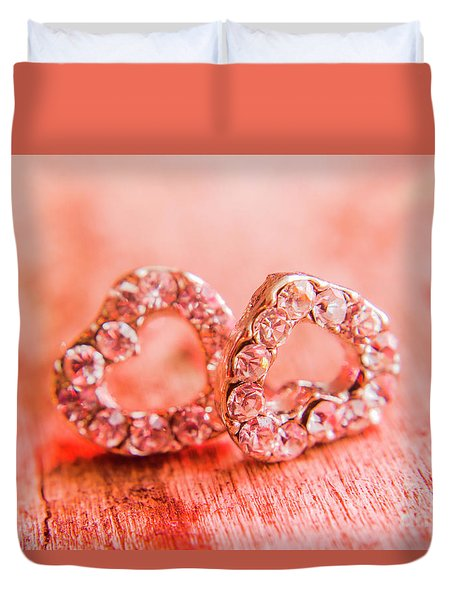 Duvet Cover featuring the photograph Love Of Crystals by Jorgo Photography - Wall Art Gallery