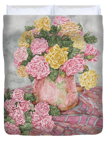 Love Of Roses Duvet Cover by Kim Tran