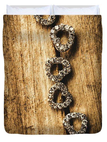 Love Of Rustic Jewellery Duvet Cover