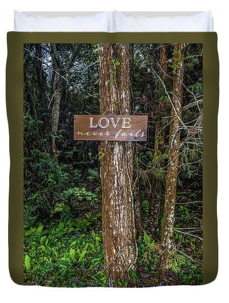 Love On A Tree Duvet Cover