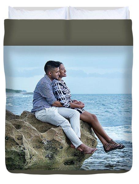 Love On The Rocks Duvet Cover