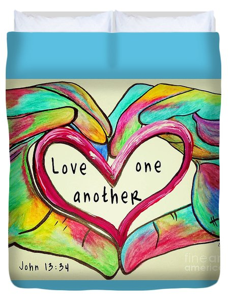 Love One Another John 13 34 Duvet Cover