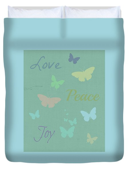 Love Peace Joy Duvet Cover