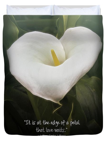 Duvet Cover featuring the photograph Love by Peggy Hughes